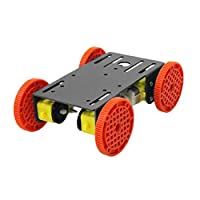 gazechimp Arduino用4ピース/個TTモーターメタルプレート付き4WDスマートロボットシャーシカーモデル