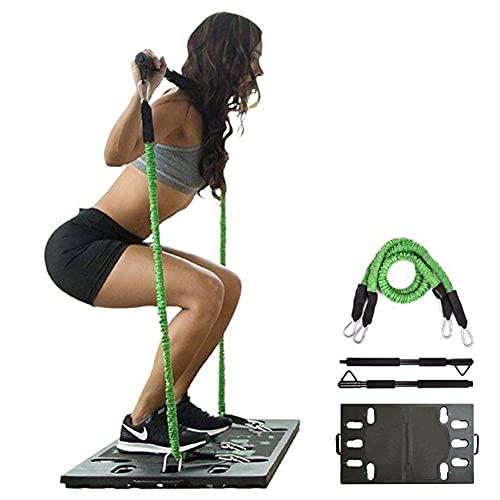 HIMAPETTR Kit De Barra De Pilates con Banda De Resistencia, Gimnasio Multifuncional Portátil para El Hogar, Core Strength Fitness