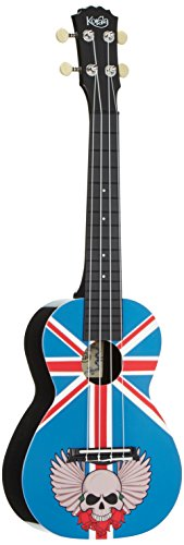 Korala Concert Ukulele-Puc 30-003 Diseño del cráneo del Union Jack
