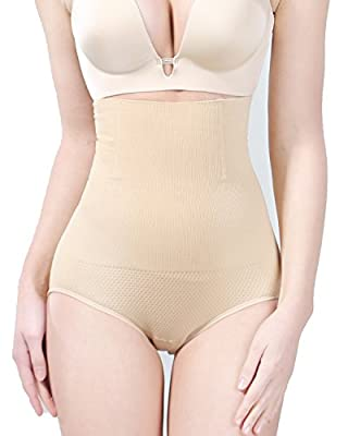 KOOCHY Tummy Control Shapewear for Women Seamless High Waist Slimming Body Shaper Butter Lifter Panties Shorts Thigh Slimmer?Beige,XS/S?