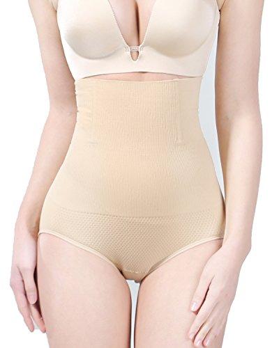 DANLOTE Women's High Waist Brief, Shapewear Seamless Tummy Control Butt Lifter Panties - Best 3 in 1 Body Shaper Compression Shorts Waist Slimmer for Women (S(Waist 17.72
