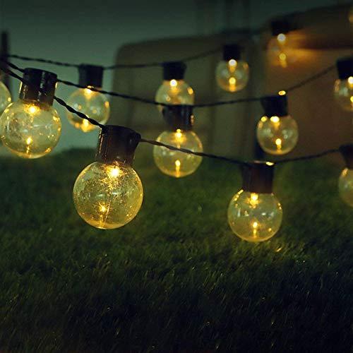20 Solarlampen Birnen im Freien Edison-Glühlampe führte Kugel-Schnur-Lichter Weihnachtslaterne-Feiertags-Lichter Stern-Dusche von 5 Metern Stecker-in Superhell