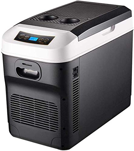 28 Liter Mini-Autokühlschrank Dual-Core-Kühlung Tragbarer Kompressor Kühlschrank Gefrierschrank Mindesttemperatur -18 ° -65 °-Schwarz Schwarz