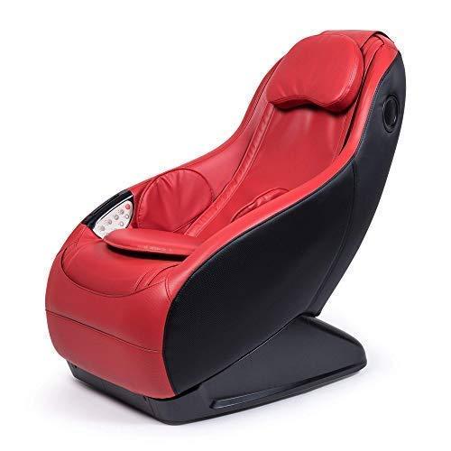 Guru Sillón de Masaje y Relax - Rojo (Modelo 2021) - 3 Modos Masaje - Sonido Envolvente shiatsu 2D - Sillon masajeador con Sistema Bluetooth y USB - Garantía Oficial 2 Años
