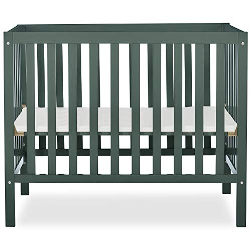 Dream On Me, Edgewood 4-in-1 Convertible Mini Crib, Olive