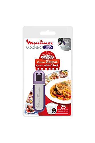 Moulinex Clé USB de 25 Recettes Bistrot Tradition XA600411 Accessoire Cookeo Officiel Compatible avec Multicuiseurs Cookeo YY2943FB CE702100