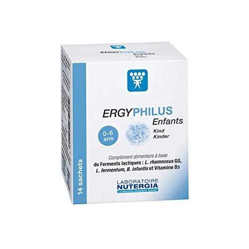 Nutergia - Ergyphilus Enfant - Probiotiques - Boite de 14 Sachets - Lot de 3 Boites