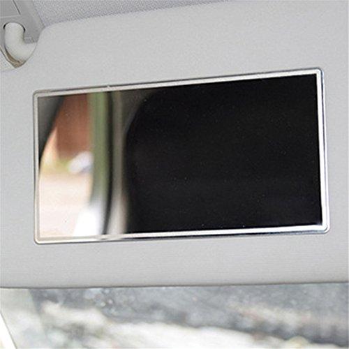 Miroir Cosmétique De Voiture, Miroir Décoratif Pare-Soleil en Acier Inoxydable, Miroir Cosmétique Intérieur Auto-adhésif Automobile