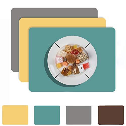 N/H Nuevos Manteles Individuales Multiusos Simples, Mantel Resistente a Altas Temperaturas, Impermeable/Antideslizante Almohadilla para Tazas y Cuencos, 2 Pack, 40 * 30cm (Green)