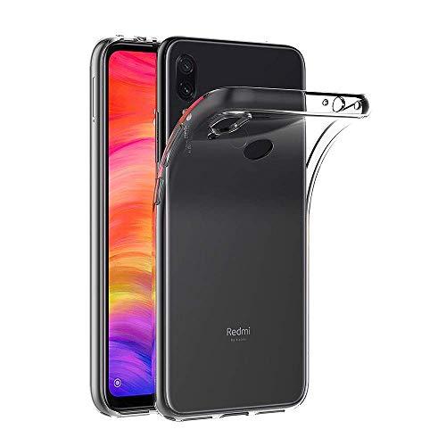 COPHONE® Coque de Protection Compatible avec Xiaomi Redmi Note 7 Etui Transparent antidérapent Coque en Silicone Transparente et Discrete
