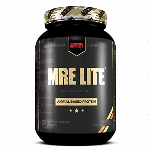 Redcon1 MRE Lite Protein Powder - 30 Servings, Animal Based Protein, Contains No Whey, No Bloating, Keto Friendly, 2G Sugar, 24G Protein Meal Replacement (Snickerdoodle)