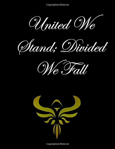United We Stand Divided We Fall: New Year's Day netbook This is a 8,5X11 120 Pages: Blank Lined Journal / Notebook - Funny, Sarcastic Yet