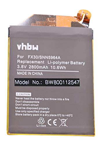 vhbw Li-Polymer Akku 2800mAh (3.8V) für Handy Smartphone Telefon Motorola Moto X Pure Edition, Moto X Style wie FX30, SNN5964A.