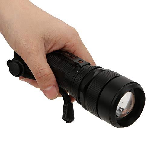 minifinker Carga USB Ligera y Segura Entrada de Salida Linterna para Exteriores Linterna táctica de Bolsillo Recargable portátil Estable para Acampar Senderismo Emergencia(Black)