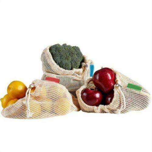 IMFAA Malla/Produce Bolsas reutilizables de algodón con