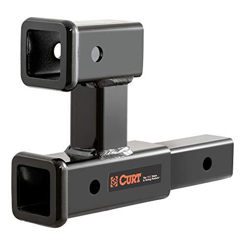 CURT 45792 Dual Receiver Trailer Hitch Ball Mount, 2-Inch, 3,500 lbs