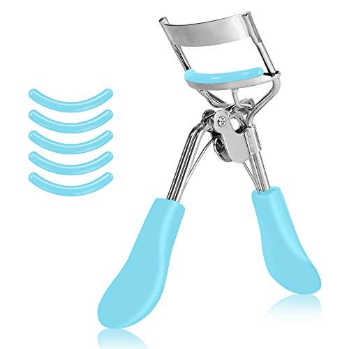 M&U Beauty Eyelash Curler With Special Curved Design To Suit All Eye Shapes For Lashes That Appear Longer and More Voluminous– Blue
