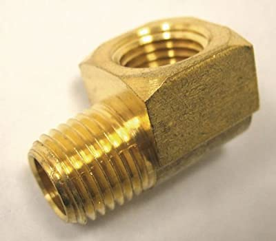 MettleAir NPT Male/Female Extruded Street Elbow L Shape Brass Pipe Fitting