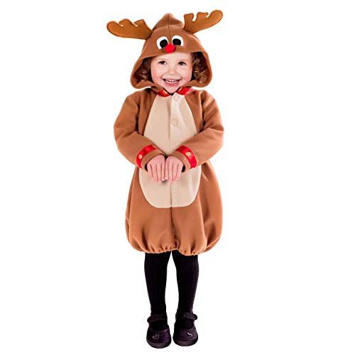 Fun Shack Toddlers Reindeer Costume Kids Festive Christmas Boys & Girls Xmas Outfit - 2-3 yr