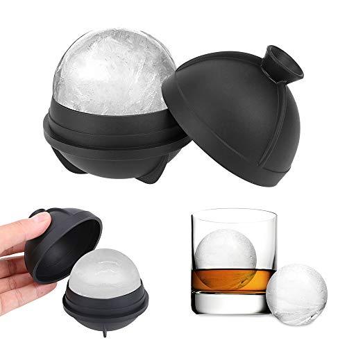 iTimo Ice Ball Making Mould, für Whiskey Wine Cocktail, 6CM Ice Ball, Silikon, Schwarz