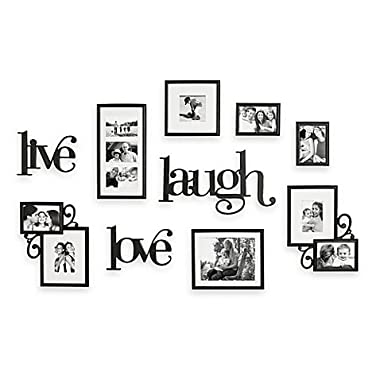 10-Piece Live Laugh Love Wall Collection with Color full-size hanging template