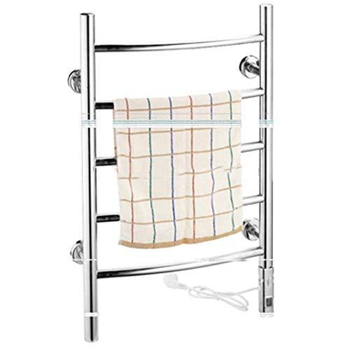 Sèche-serviettes, porte-serviettes électriques, porte-serviettes chauffant mural de sécurité à économie d'énergie 304 Sèche-serviettes en acier inoxydable Accessoires de salle de bain à domicile, cha