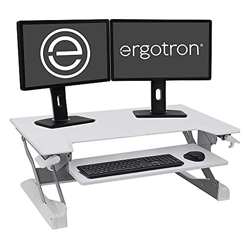 Ergotron WorkFit-TL, Sit-Stand Desk Converter   White, 37.5' Wide   for Tabletops