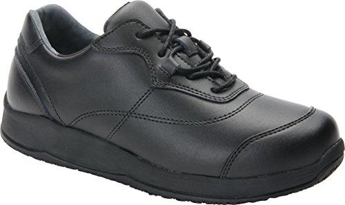 Drew Shoe Women's Drew Slip Resistant Oxfords, Black, Leather, Rubber, Foam, 8.5 W