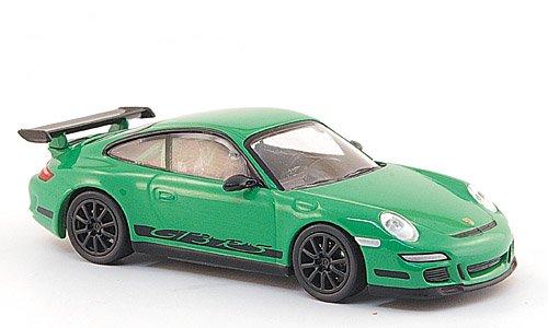 Porsche 911 GT3 RS, grün/schwarz, 2006, Modellauto, Fertigmodell, Minichamps 1:64