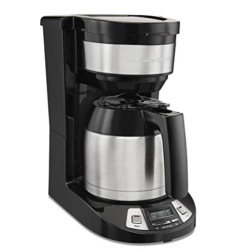Hamilton Beach 8 Cup Programmable Coffee Maker with Thermal Carafe, Black (46240)