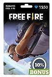 Free Fire 1550 Diamantes Gift Card