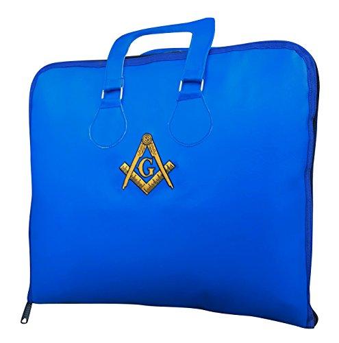 New Masonic Soft Embroidered Apron Case Master Mason Faux Leather Holder Arch
