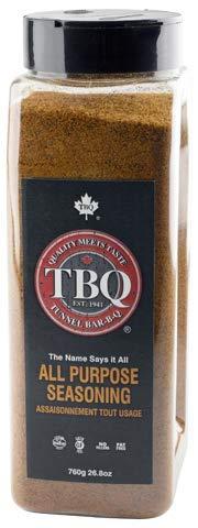 TBQ All Purpose Seasoning Spice Blend 760g - 26.8oz Vegan, Kosher, MSG Free, No Fillers