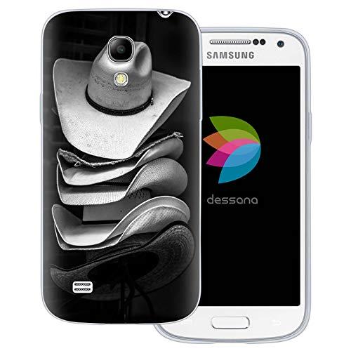dessana Cowboy transparante beschermhoes mobiele telefoon case cover tas voor Samsung Galaxy S Note, Samsung Galaxy S4 mini, Cowboy hoed