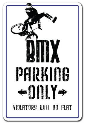 BMX Aluminum Sign Parking Race Bike Trick Rider Parts Racer Fun | Indoor/Outdoor | 24' Tall