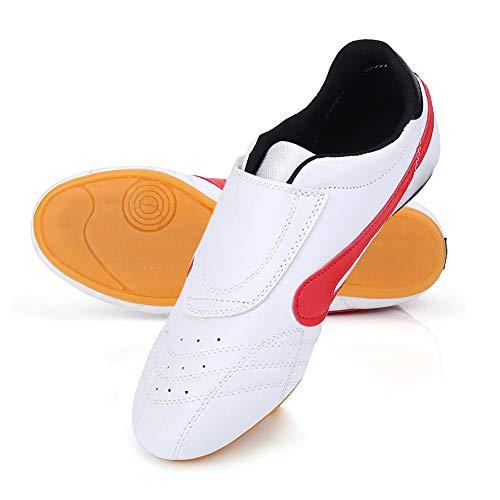 Dilwe Zapatos de Taekwondo Cuero de PU Zapatillas de Gimnasio de Artes Marciales para Adultos(43) ⭐