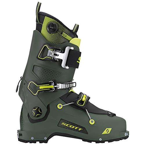 Scott Skischuh Freeguide Carbon Military Green/Yellow 28,5