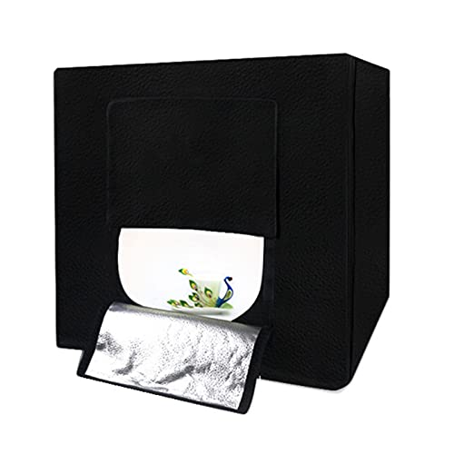 Carpa De Luz Portátil, Caja De Luz para Fotografía, Tienda De Tiro De Estudio, LED, Pequeña Caja De Fotografía Profesional De Tres Luces De 60 CM