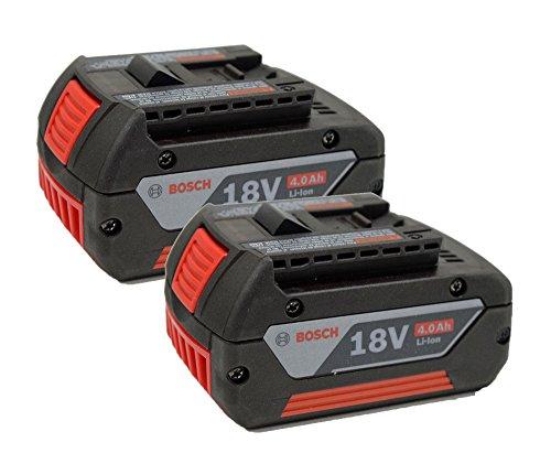 Bosch Genuine 18V 4 Amp Lithium Ion (2 Pack) Battery # 2607336819-2PK