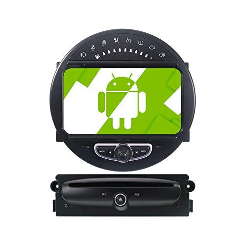 AOTSR 7 Pulgadas Android 10.0 Radio de Coche Reproductor Multimedia para BMW Mini 2006-2013 Navegación GPS Bluetooth DSP Radio Wireless Carplay IPS Pantalla táctil WiFi Audio Mirror Link