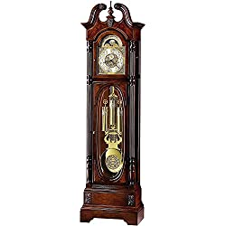 Howard Miller Stewart Floor Clock 610-948 – Windsor Cherry Grandfather Vertical Home Decor with Cable-Drive Triple-Chime Concerto Movement