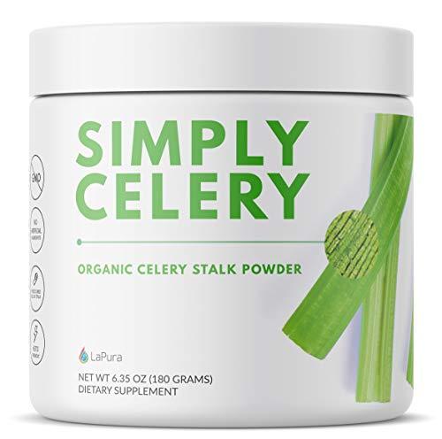 LaPura Organic Celery Juice Powder Supplement - Supports Gut Health, Natural Detox, Energy Boosting (30 Servings)