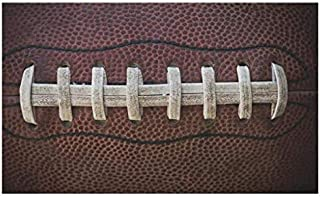 Sports Doormat, American Football Leather Laces Fun Traditional Sport Close Up Photo Print, Decorative Polyester Floor Mat...