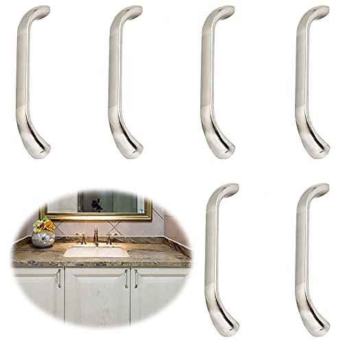 6 Piezas Armario Alacenas Palanca De Puerta Tirador De Mueble Acero Inoxidable Tirador De Aleación De Aluminio Tiradores Para Muebles Manija De Mueble Manija De Cocina Asas Moderno Decorar Gabinetes