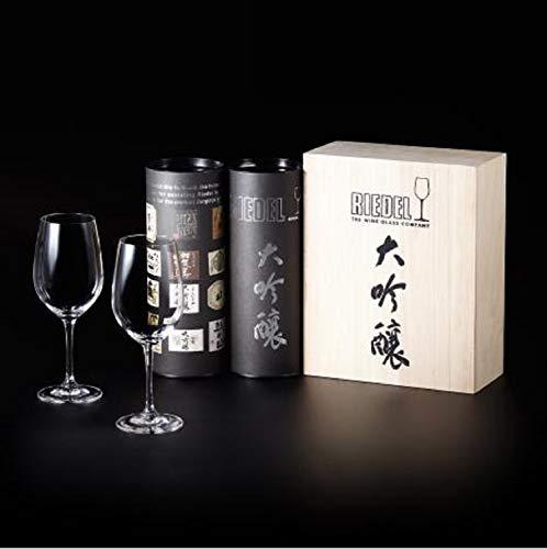 [正規品]RIEDELリーデル日本酒グラスペアセットヴィノム大吟醸木箱入り380ml0416/75-2