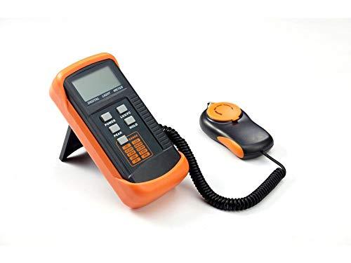 Medidor Digital Iluminación, Dr.meter Luxómetro Digital, 200.000 Lux, con Gran precisión, reacción rápida y retención de los Datos, Profesional Fotómetro (Fotómetro)