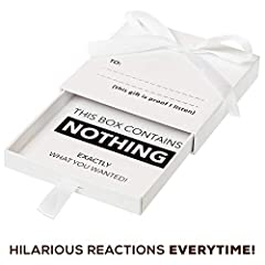 😍HILARIOUS GIFT - Hilarious and Dramatic, watch as they slowly open their box to receive the Nothing they asked for! ✅ BEST REACTIONS - Our nothing box is designed to get the best reactions. Have your camera ready and watch the best reactions ever as...