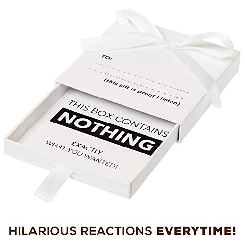 The Present of Nothing - For the person who has everything, give this Funny Cleverly Designed Box of Air. Watching their Reactions as they open the Useless Gag Box is Priceless, get the Camera out!