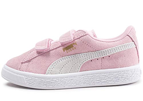 PUMA Unisex-Kinder Suede 2 straps PS Sneaker, Pink (Pink Lady-Puma Team Gold), 29 EU ( UK)