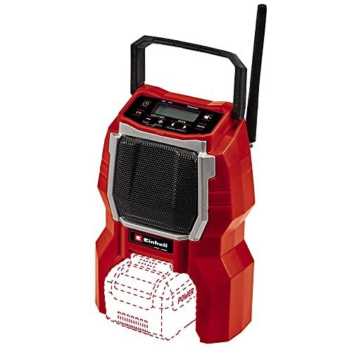 Einhell Radio con batería TC-RA 18 Li BT- Solo Power X-Change (iones de litio, 18V, altavoz 10W, Bluetooth,...